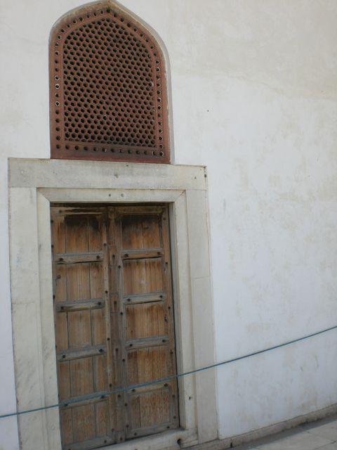 red fort door
