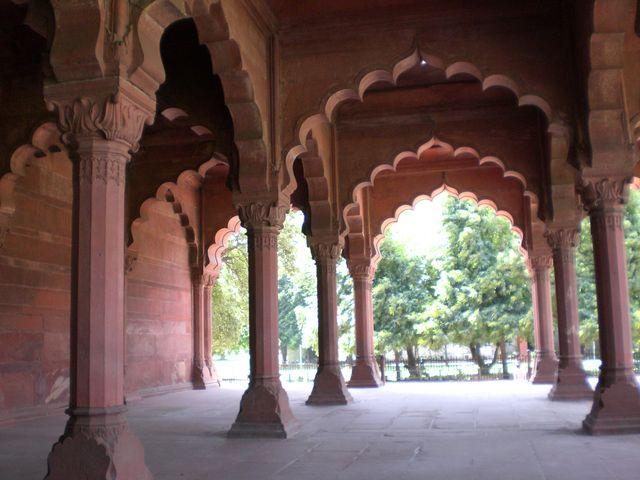 red fort columns