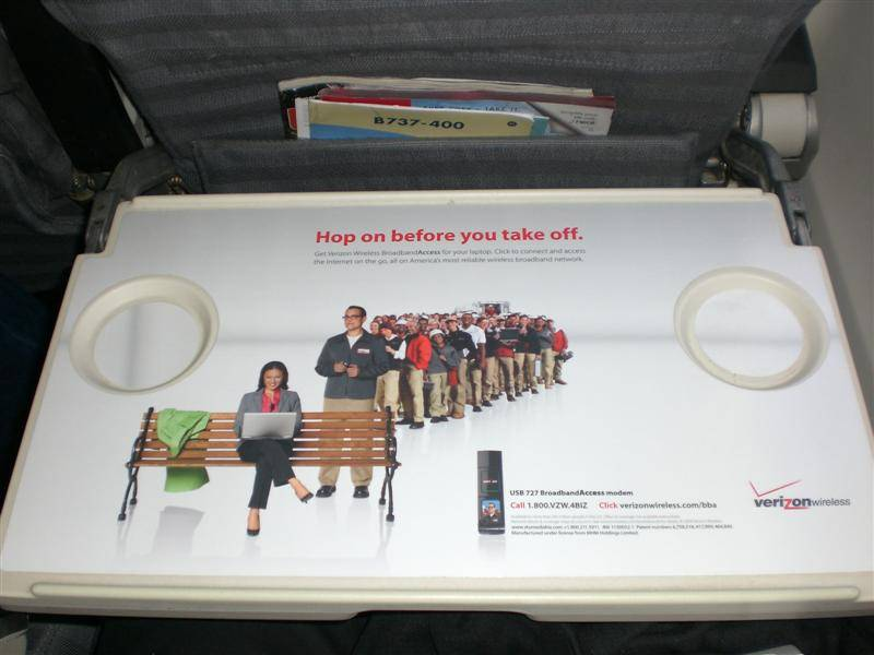 tray table advertisment