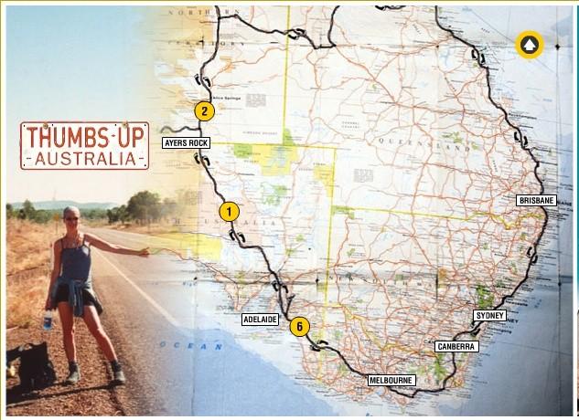 thumbs up australia map