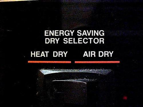 dishwasher heated dry