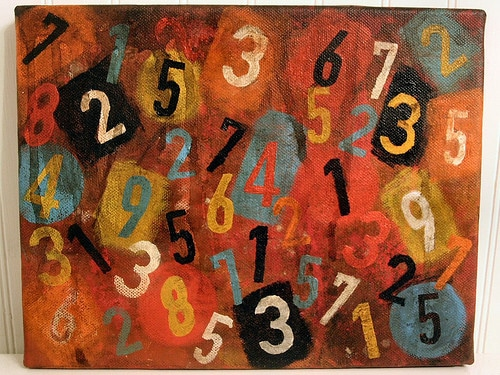 colorful numbers painting