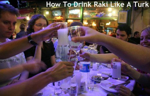 how to drink raki like a turk