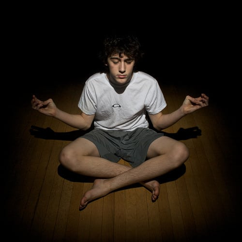 meditating in the dark