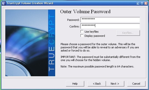 truecrypt outer volume password