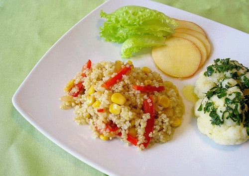 plate of quinoa