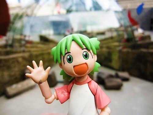 anime character waving