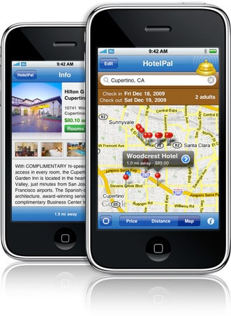 hotelpal on the iphone