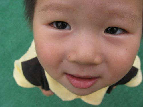 kid looking up