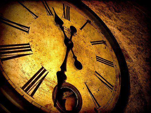 old yellow clock