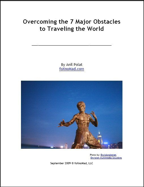 overcoming the 7 major obstacles to traveling the world ebook cover