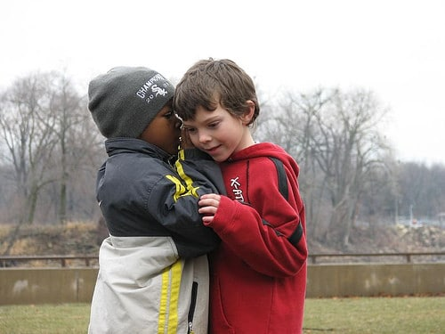 kids whispering