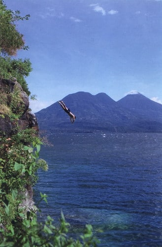 man jumping off cliff san marcos