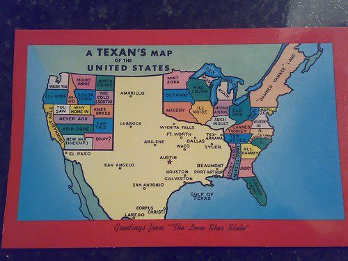 a texans map of the us