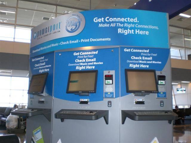 internet kiosk dallas airport