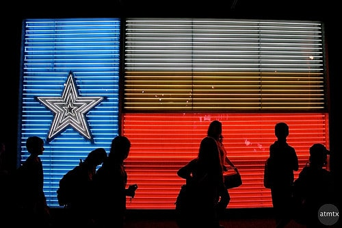 texas flag neon lights