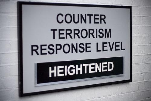 terrorism response sign