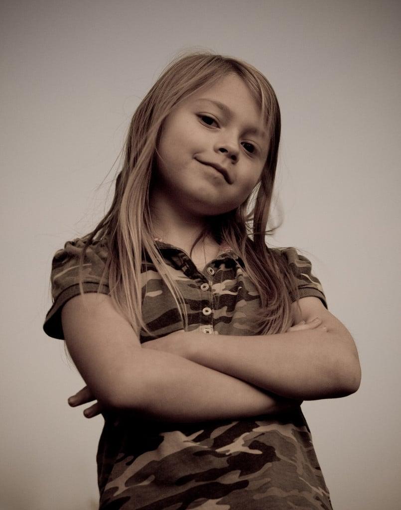 confident kid