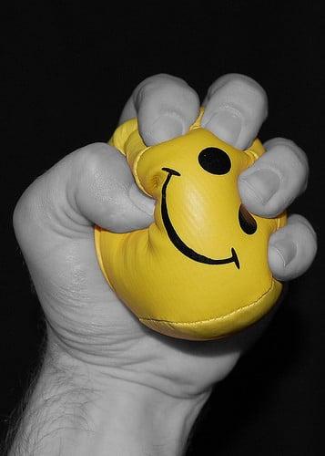 smiley stress ball