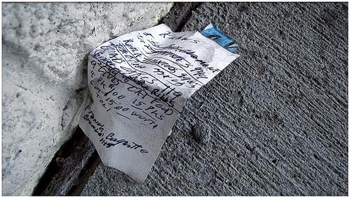 crumpled list