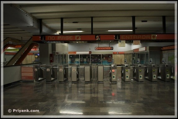 mexico city turnstiles