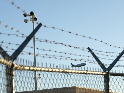airport barbed wire fence