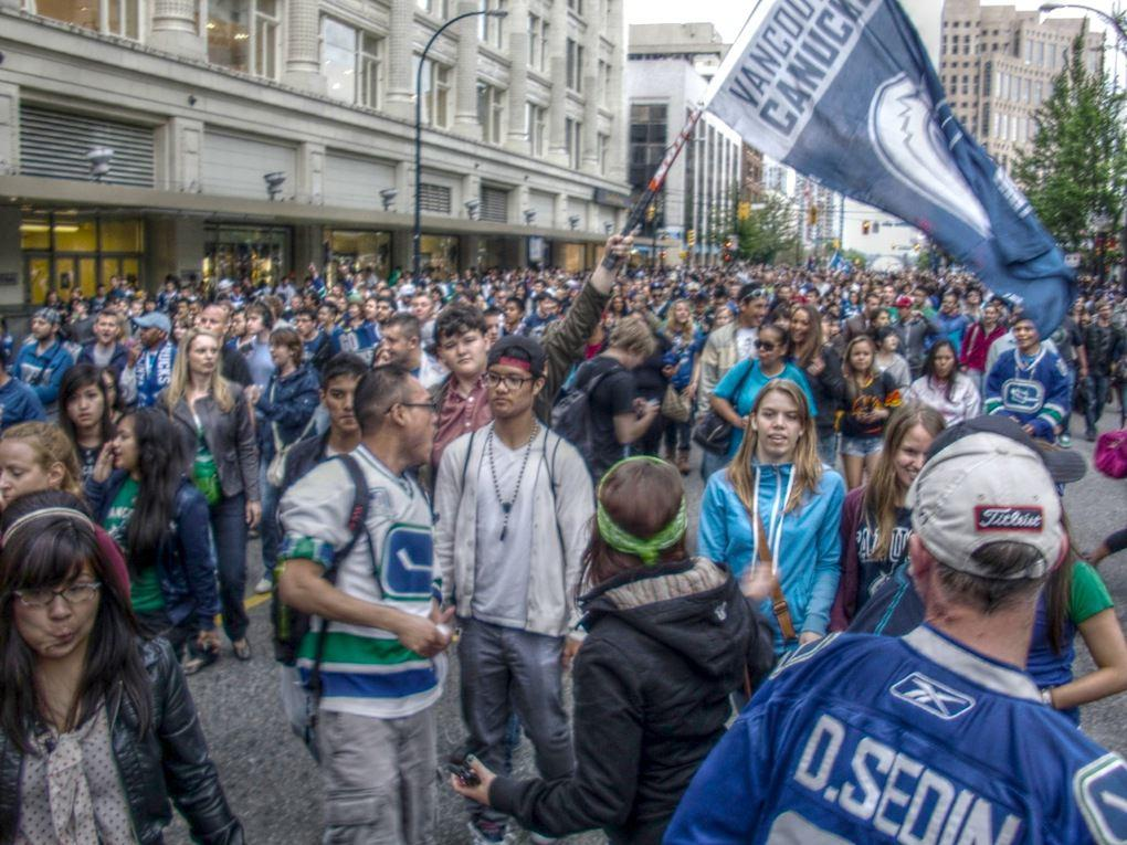 downtown vancouver canucks