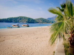 Weeks Before The Crowds In Oludeniz On Turkey's Mediterranean Coast