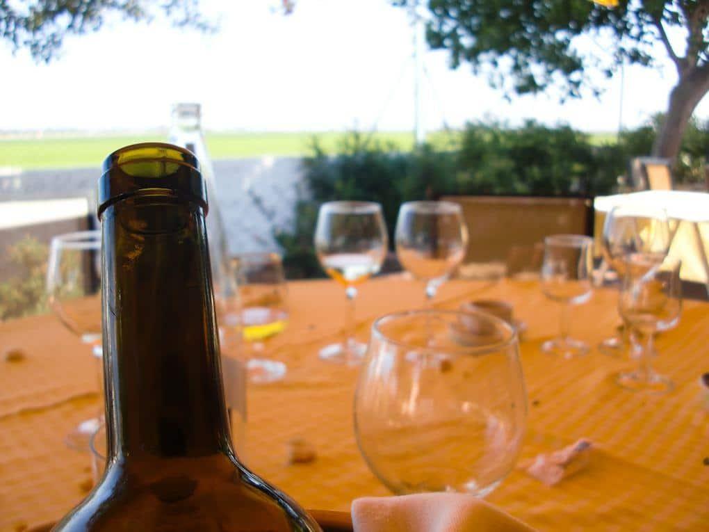 bottle of Spanish wine