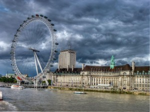 The London Eye And A View Of The City During The Riots