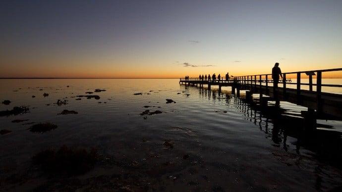sunset hamelin pool australia