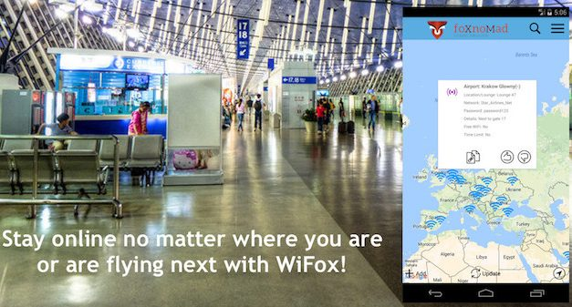 WiFox, The Map Of Current Airport Wireless Passwords Worldwide, Is Now Available On Android