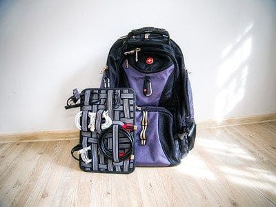 The Cocoon Grid-It Is Cable Management For Your Backpack